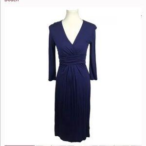 Boden Purple Drapy Jersey Kint Surplice Dress 6R